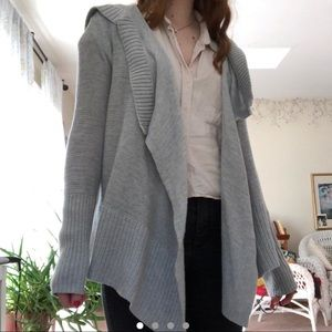 grey hollister cardigan